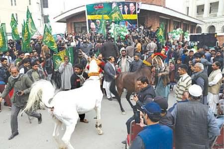 PML-N train celebration arrives before time