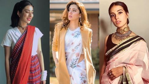 How to rock a casual sari — whether it's day or night