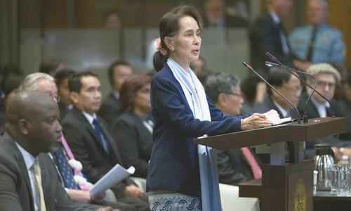 Suu Kyi defends Myanmar armed forces at top UN court