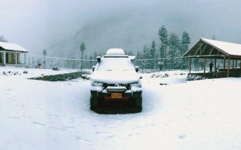 Upper Dir, Shangla receive snowfall