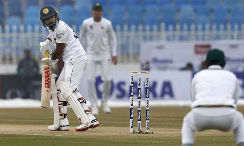 Sri Lanka resumes play after rain subsides in Rawalpindi on day 2 of Test against Pakistan