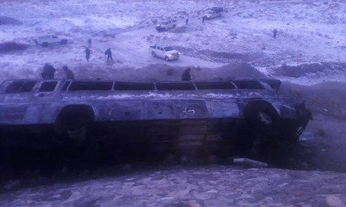 Road accident in Balochistan claims 15 lives: rescue sources
