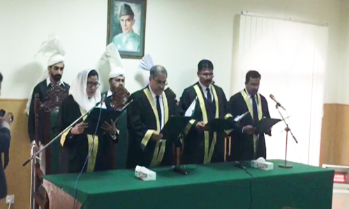 IHC's first female judge Lubna Saleem Pervaiz sworn in