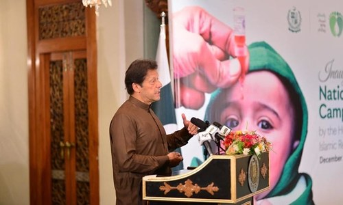 Pakistan's economy, image linked to polio eradication: Imran