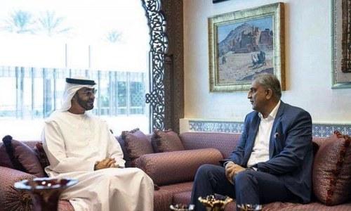 آرمی چیف کا دورہ متحدہ عرب امارات، ابوظہبی کے ولی عہد سے ملاقات