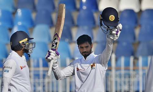 De Silva reaches ton before Sri Lanka declare on fifth morning of fiirst Test against Pakistan