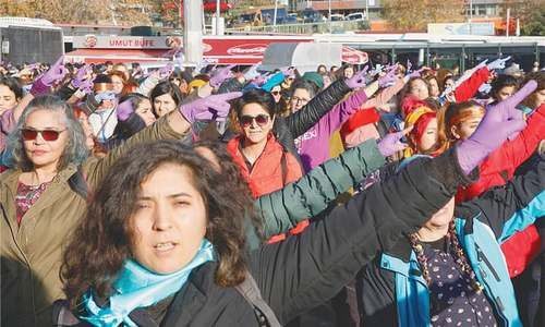 Women MPs sing anti-rape song in Turkish parliament