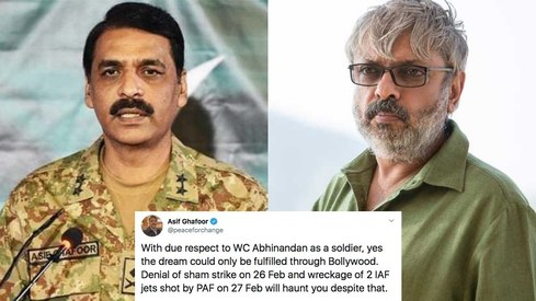 Bollywood's making a new movie about the Balakot airstrike and DG ISPR had something to say about it