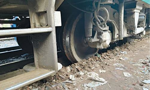 Three train coaches derail in Lahore station's yard area