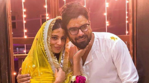 Iqra Aziz and Yasir Hussain kick off wedding festivities with a mayun