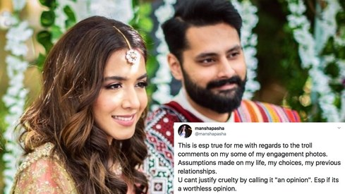 Mansha Pasha hits back at trolls, says you can't justify cruelty by calling it an opinion
