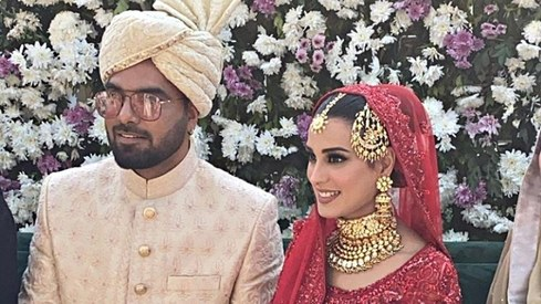 Iqra Aziz and Yasir Hussain's nikkah ceremony is giving us major wedding goals