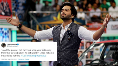 Fahad Mustafa calls out TikTok but Twitter reminds him he hosts Jeeto Pakistan