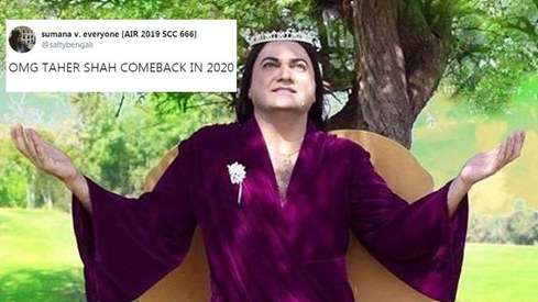 People are way too excited about Taher Shah's latest announcement