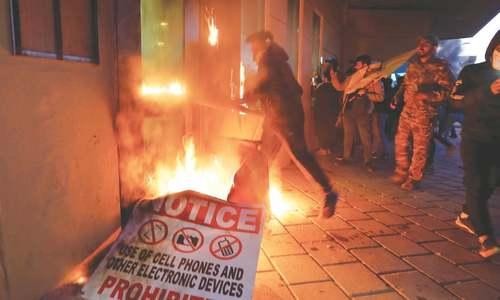 Protesters attack American embassy in Iraq