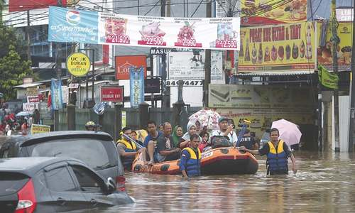 Nine die as floods swamp Indonesian capital