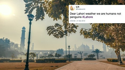 Twitter reacts to Lahore braving its coldest winter in decades