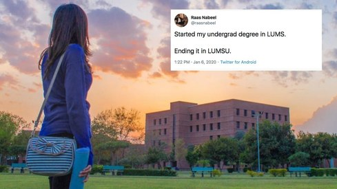 LUMS thought it was a good idea to rebrand as LUMSU. Twitter doesn't agree