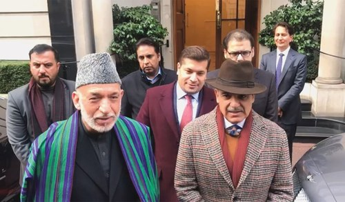 Karzai meets Nawaz, says happy to see him in good health