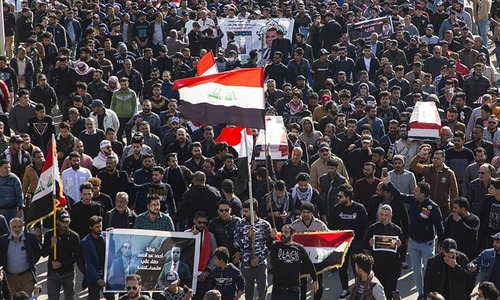 Hundreds mourn journalists killed after covering Iraq protests