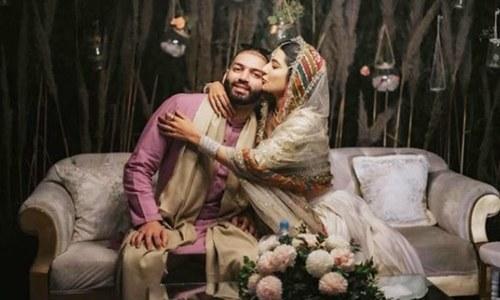 خاموشی سے شادی کرنے کے بعد ایمان سلیمان کی شادی کی تقریبات