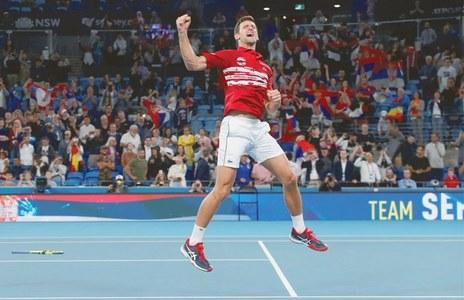 Djokovic steers Serbia to ATP Cup glory
