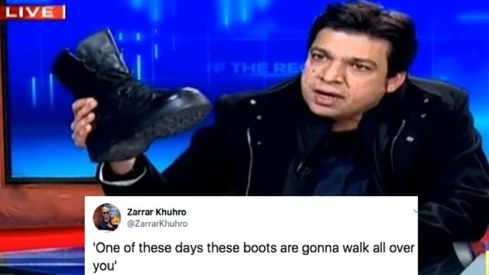 Faisal Vawda's army boot stunt warranted these Twitter reactions