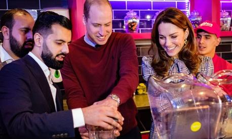 Kate Middleton and Prince William make kulfi milkshakes for first 2020 royal outing