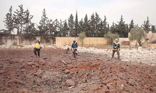 Russian strike kills five civilians in Syria
