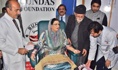 Firdous' 'symbolic blood donation' stirs controversy