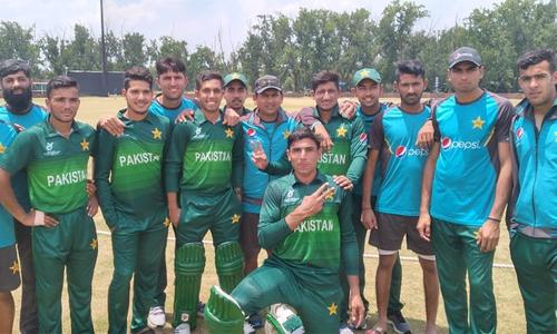وسیم کی تباہ کن باؤلنگ، پاکستان کا انڈر 19 ورلڈ کپ میں فاتحانہ آغاز