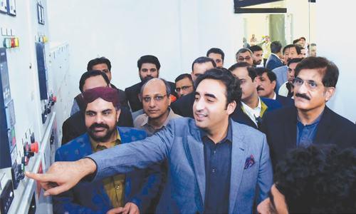 Bilawal opens 100mgd pump house at Dhabeji