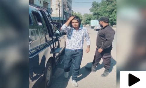 کراچی میں پولیس موبائل میں نوجوان کی ٹک ٹاک ویڈیو وائرل