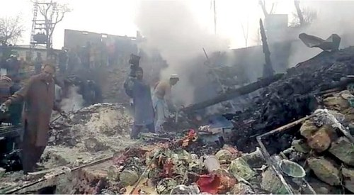 Two shops gutted in Upper Dir