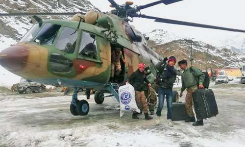 Army helicopters lift stranded passengers in Gilgit-Baltistan