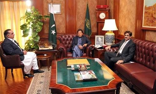 PM Imran meets Sindh CM, governor during day-long visit to Karachi