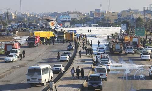 Iranian plane overshoots runway; passengers safe