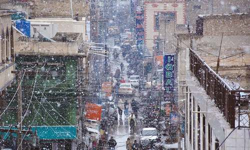 12 injured as heavy rain, snowfall batter Balochistan