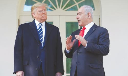 Trump insists  Israeli-Palestinian plan has a 'chance'