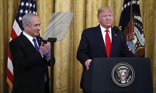 فلسطین اسرائیل تنازع: ٹرمپ نے مشرق وسطیٰ کیلئے امن منصوبے کا اعلان کردیا
