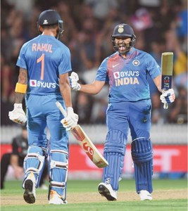 Sharma's super-over six gives India T20 series against Black Caps