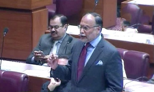 Ahsan Iqbal lambastes govt for 'destroying economy'