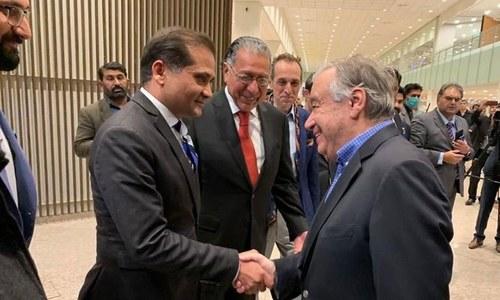 اقوام متحدہ کے سیکریٹری جنرل پہلے سرکاری دورے پر پاکستان پہنچ گئے