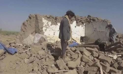 یمن: سعودی طیارے کے حادثے کے بعد فضائی کارروائی میں 31 شہری ہلاک