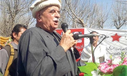 Country on verge of bankruptcy, says Achakzai
