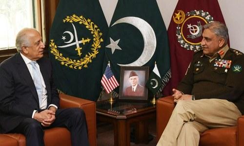 آرمی چیف سے امریکی نمائندہ خصوصی زلمے خلیل زاد کی ملاقات