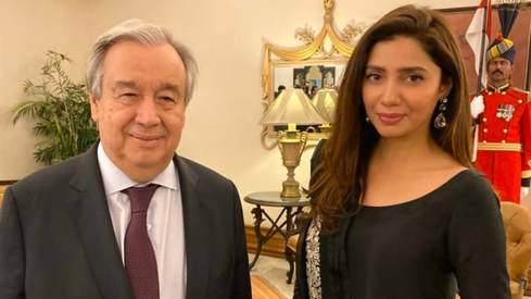 UN chief meets Mahira Khan during his Pakistan trip