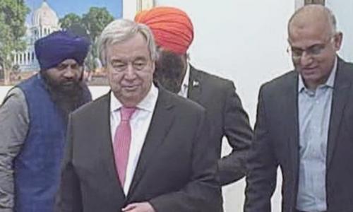 اقوام متحدہ کے سیکریٹری جنرل کا کرتارپور راہدرای کا دورہ
