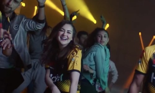 Mehwish Hayat and Hania Aamir join Peshawar Zalmis for a Pashto PSL anthem