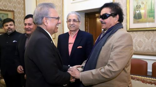 Shatrughan Sinha meets President Arif Alvi on his trip to Lahore